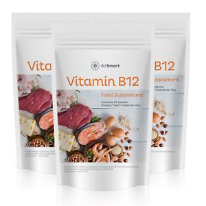 Vitamin B12 1000mcg - 60 Tablets - Reduces Tiredness & Fatigue Immunity Boost
