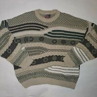 Carlo Alberto Australia Men's XL Chunky Knit Textured Cosby Coogi Like Sweater