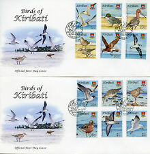 Kiribati 2008 FDC Bird Definitives Terns Gulls Ducks 12v / 2 Covers Birds Stamps