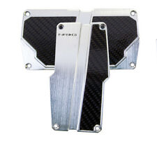 NRG AUTOMATIC TRANSMISSION PEDAL COVER SILVER WITH BLACK CARBON