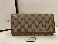 Gucci GG Guccissima Canvas Continental Wallet Brand New In Box