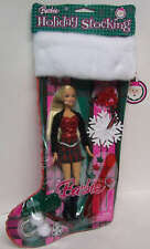 Barbie Christmas Holiday Stocking with Doll, Ornament & Accessories 2007 NEW