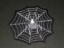 MOTORCYCLE BIKER SEW/IRON ON PATCH:- SPIDER IN A WEB SPIDERS WEB (a)