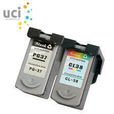 2 Ink Cartridge for Canon PG37 CL38 Pixma iP1800 iP1900 iP2500 iP2600 MP140