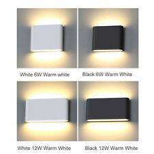 1/10x COB 6W 12W LED Lámpara Lámpara de pared Luz Arriba Abajo Lámpara Interior Al Aire Libre
