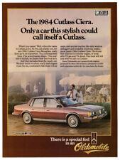 1984 OLDSMOBILE Cutlass Ciera Vintage Original Print AD - Brown car photo Canada