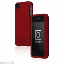 OEM Incipio Apple iPhone 4 4S Edge Pro Hard Cover Shell Slider Carrying Case Red