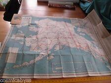 "Alaska Kroll Map Company KMCO Inc Edwin Poland drawn VINTAGE 1940s 32x45"""