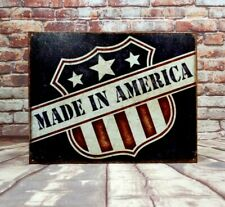 Reduced - Clearance Sale Made In American.Metal Sign for Man Cave / Garage