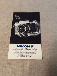 Camera Photography Brochure Nikon F