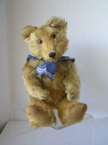 Antique Josef Pitrmann Jopi Musical German 1920's Frosted Mohair Teddy Bear 20""