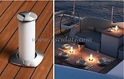 Pop Up Table Light LED Boat Cabin Deck Stainless Steel Flush Pop Out 12V  PUTL1