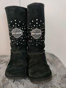 Harley Davidson Winter Black Suede Women's Boots Size 7