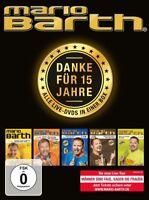 MARIO BARTH - DANKE FÜR 15 JAHRE: DIE BOX-ALLE 5 LIVE-DVDS IN  5 DVD NEU