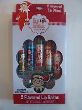 NEW Lotta Luv The Elf on the Shelf 5 Flavored Lip Balms & Keychain