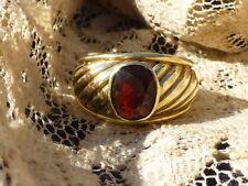 Vintage 10K Garnet Men's Ring - Size 10