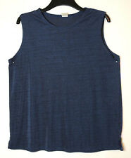 NAVY BLUE LADIES CASUAL TOP BLOUSE STRETCH SIZE M/L