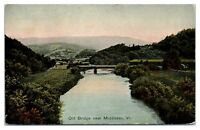 Early 1900s Old Bridge near Middlesex, VT Postcard