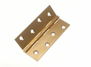 BUTT HINGE ( DOOR GATE ) EXTRUDED SOLID BRASS 100MM 4 INCH  SCREWS (PK 2 PAIRS)