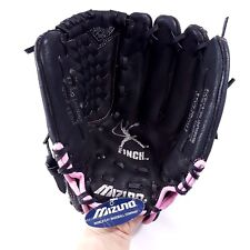 "Mizuno Youth 11.5"" Baseball Glove GPP1153 Prospect Series Black w/ Pink Trim"