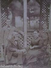Unique Antique Cabinet Photo-Man,Beard,Fancy Lady,Hair Comb,Boys-Rustic Gazebo