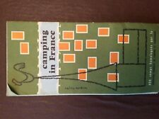 G1a leaflet camping in france 1960 fold out map