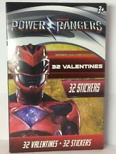 Power Rangers 32 Valentines cards 32 Stickers 8 Awesome Designs