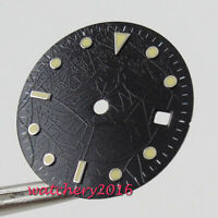 29.2MM Sterile Black Watch Dial fit 2824 2836 miyota 8215 8205 movement watch