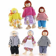 6*Wooden Family People Dolls House Toys DollsHouse People Characters