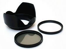 F180a CPL / UV Filter + Lens Hood for NIKON Coolpix P900 Digital Camera