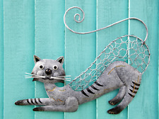METAL HANGING CAT WALL DECOR | PURRFECT FOR CAT LOVERS | INDOOR OR OUTDOOR