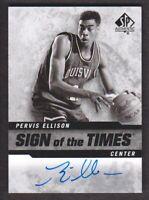 2014-15 SP Authentic Sign of the Times #SOT-PE Pervis Ellison Auto Louisville