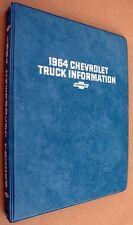 1964 CHEVROLET TRUCK PICKUP VAN EL CAMINO CORVAIR  INFORMATION BOWTIE ALBUM BOOK