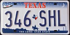 """TEXAS """" LONE STAR MAP SHUTTLE COWBOY """" DISCONTINUED """" TX Graphic License Plate"""