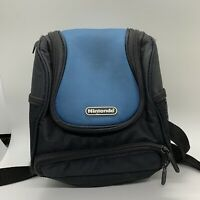 Official Nintendo Game Console Carrying Case Travel Backpack BagBlue & Black