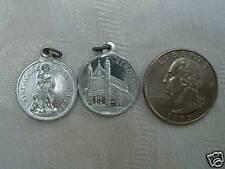 Vintage Catholic Medal St. Roch Rocco Roque Rock - detailed aluminum