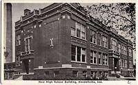 1926 KENDALLVILLE Indiana Ind Postcard NEW HIGH SCHOOL BUILDING