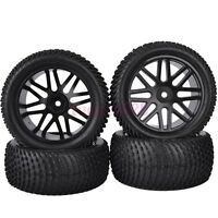 4PCS RC 1/10 Off-Road Buggy Car Front&Rear Grain Rubber Tyres Tires 6615BS
