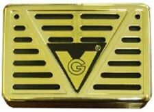 "Gold Cigar Humidor Humidifier 3"" X 2"" Rectangle"