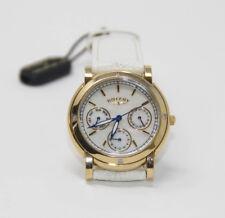 Authentic Rotary Women's Rocks Diamond Set Watch RLS00026/41 Leather White /Gold