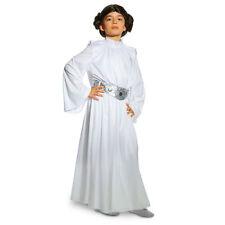 DISNEY STORE STAR WARS PRINCESS LEIA COSTUME DRESS AND WIG NWT SZ 5/6 GIRLS