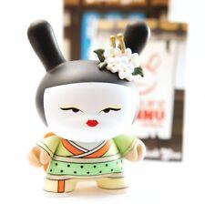 "Kidrobot Dunny 3"" Gold LIfe Series Huck Gee Geisha Limon Ninja Vinyl Art Toy"