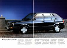 Volkswagen Golf Hatchback Mk2 1989-90 UK Market Brochure 1.3 CL Diesel TD GL