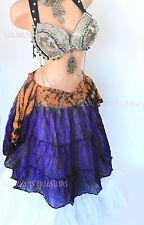 Purple  Tiger Stripe Wrap Skirt Gypsy Tribal Fusion Belly Dancel ATS