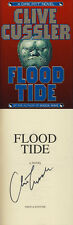 Clive Cussler SIGNED AUTOGRAPHED Flood Tide HC 1st Ed/1st Dirk Pitt VF Condition