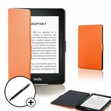 Forefront Cases Orange Smart Shell Case Cover for Amazon Kindle Voyage + Stylus