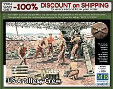 Master Box 3577 U.S. Artillery Crew, WWII Era 5 Figures Scale 1/35