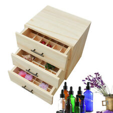 3Layer 96 Compartment Essential Oil Bottle Wood Storage Box Display Stand Holder