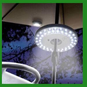 2x 48 Ultra Bright LED Camping Light Garden Patio Parasol Pole Tent Fishing Lamp