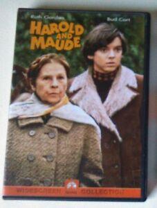 HAROLD AND MAUDE dvd RARE OOP ruth gordon REGION 1 bud cort SUICIDE comedy 1971